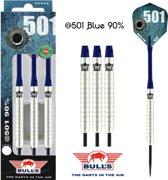 Bull's @501 Blue 90% 21 gram Steeltip Dartpijlen