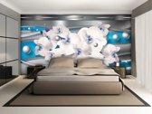 Poster | Blauw , Zilver | 104 x 70,5 cm