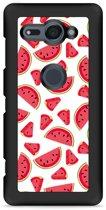 Xperia XZ2 Compact Hardcase Hoesje Watermeloen
