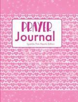 Prayer Journal Sparkle Pink Hearts Edition