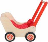 Simply for kids Houten poppenwagen rood