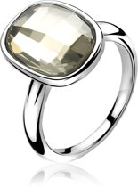Zinzi - Zilveren Ring - Swarovski Kristal - Wit - Maat   ZIR1007-56