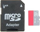 Captec MSD-64GB-C10, Micro SD SDHC UHS-1, 64GB Class 10 geheugenkaart, inclusief SD adapter.