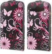 Butterfly zwart Flip hoesje Samsung Galaxy Ace 4