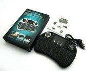 Draadloos mini toetsenbord met touchpad Airmouse muis  + oplaadbare accu -