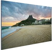 FotoCadeau.nl - Leblon strand Rio de Janeiro Aluminium 60x40 cm - Foto print op Aluminium (metaal wanddecoratie)