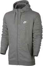 Nike Club Hoodie Full Zip Terry Sportvest Heren - Dk Grey Heather/(White)