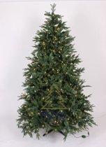 Kunstkerstboom Delaware Deluxe PE / PVC - Snelle Opbouw - Lengte 180 cm - met 400 Warm LED Lampjes - Kleur Groen