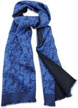 We Love Ties Herensjaal Paisley Beau, kobaltblauw / marineblauw