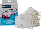 10x FFP2 Masker - N95 3M Alternatief - Met Ademhal