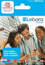 Lebara prepaid simkaart €15 met 50MB internet