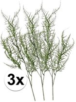 3x Groene kunst Asparagus tak 73 cm  - Kunstbloemen