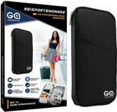 Reisportemonnee - paspoorthouder - paspoorthoesje - reisdocumenten - zwart - GadgetQounts
