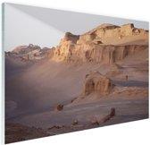 De Kaluts woestijn Glas 90x60 cm - Foto print op Glas (Plexiglas wanddecoratie)