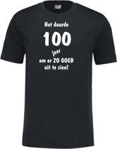 Mijncadeautje - Leeftijd T-shirt - Het duurde 100 jaar - Unisex - Zwart (maat XL)