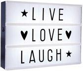 Lightbox - Lichtbak - LED - inclusief 85 letters en symbolen - A4 formaat - 30 x 22 x 4,2 cm