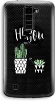 LG K10 (2016) Transparant Hoesje (Soft) - Hey you cactus