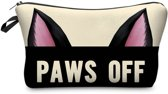 Make-up Bag Paws Off | Toilettas met Rits