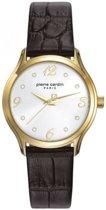 Pierre Cardin PC108162F02 - Horloge - Leer - Roestvrij staal