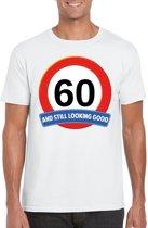 60 jaar and still looking good t-shirt wit - heren - verjaardag shirts 2XL