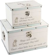 Bambino Luggage Storage Set of 2 Boxes Little Boys