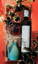 Kerstpakket Olijfolie, wilde tijmhoning en olijfkannetje van House of Crete