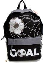Run Away Goal! VOETBAL Rugzak Rugtas Schooltas Zwart grijs Stoer !