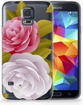 Samsung Galaxy S5 Uniek TPU Hoesje Roses