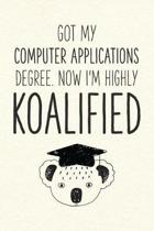 Got My Computer Applications Degree. Now I'm Highly Koalified