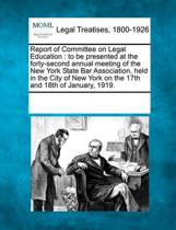 Report of Committee on Legal Education