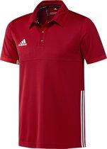 adidas T16 'Offcourt' Team Polo Heren - Shirts  - rood - M