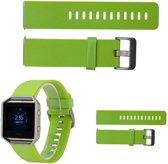 Groen - TPU Siliconen armband voor Fitbit Blaze - Bandje Voor De Fitbit Blaze - Armband / Polsband / Strap Band / Sportband - Maat S (19 cm)