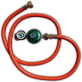 Drukregelaar / slangset 30 mbar met manometer en 1/2 Inch aansluiting