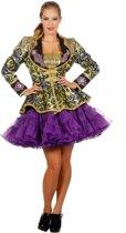 Venetie & Gemaskerd Bal Kostuum | Jas Jaquard Paars Italiaanse Hof Vrouw | Maat 46 | Carnaval kostuum | Verkleedkleding