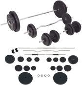 Halterset 90kg- Dumbbell Set - Gewichtheffen set - Dumbells - Barbell Stang - Halterstang