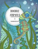 Doodle Animals Coloring Book for Grown-Ups 1