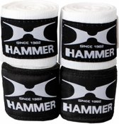 Hammer Boxing bandages elastic, 3,5m, zwart