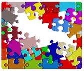 Muismat Puzzel met textiel toplaag - 22 x 18 cm