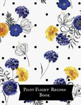 Pilot Flight Record Book: Pilot Fight Log- Flight Crew Record Book- Aviation Pilot Logbook- Unmanned Aircraft System 8x10in - Paperback