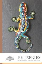 Pet Series One Hundred and Fifty page lined Lizard Journal: 150-page Lined Lizard Decor Notebook to write in, with individually numbered pages and Met