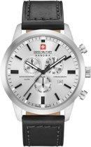 Swiss Military Hanowa 06-4308.04.009 horloge heren - zwart - edelstaal