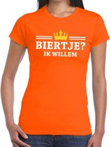 Oranje Biertje ik willem shirt dames S