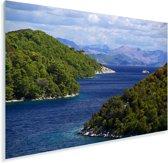 De noordelijke kust van het Nationaal park Mljet in Kroatië Plexiglas 180x120 cm - Foto print op Glas (Plexiglas wanddecoratie) XXL / Groot formaat!