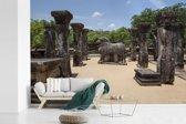 Fotobehang vinyl - Koninklijke raadzaal van Polonnaruwa in Sri Lanka breedte 450 cm x hoogte 300 cm - Foto print op behang (in 7 formaten beschikbaar)