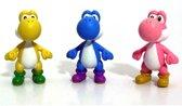 Super Mario Yoshi set van 3 figuren