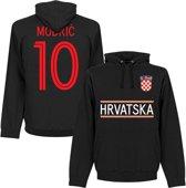 Kroatië Modric 10 Team Hooded Sweater - Zwart - S