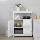 MIRA - Badkamer kast | Badkamermeubel  | Landelijke stijl | 80 x 60 x 30 cm | Wit