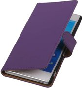 Wicked Narwal | bookstyle / book case/ wallet case Hoes voor sony Xperia M4 Aqua Paars