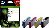 HP 364 - Inktcartridge / Zwart / Cyaan / Magenta / Geel / Multi-Pack