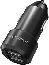 RAVPower Autolader - Dual USB - zwart RP-VC006B
